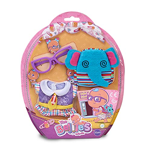 Bellies- Ropita del cole, mochila Elephant Famosa 700015318 (la muñeca no está incluida)