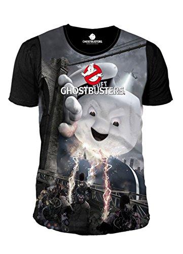 Unbekannt Ghostbusters - Herren T-Shirt - Marshmallow Sublimation (Schwarz) (XL)