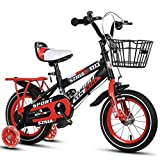 LKAIBIN Bicicleta de campo para niños de 6 a 9 para hombre y mujer, portabebés de 18 pulgadas, marco de acero de alto carbono, naranja/azul/rojo para niños (color: rojo)