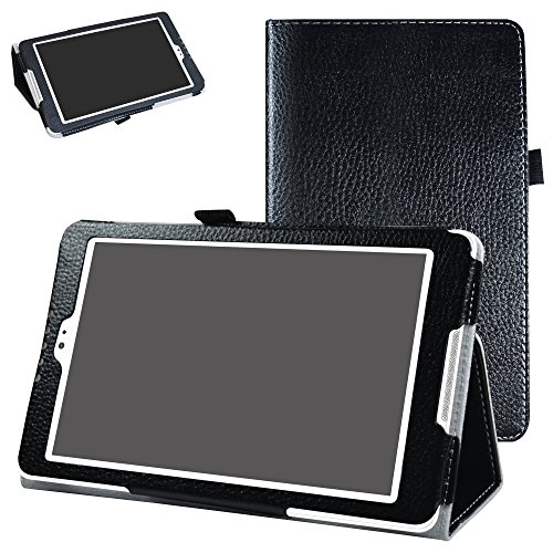 Mama Mouth BQ Aquaris M8 Funda, Slim PU Cuero con Soporte Funda Caso Case para 8.0' BQ Aquaris M8 Tablet PC,Negro