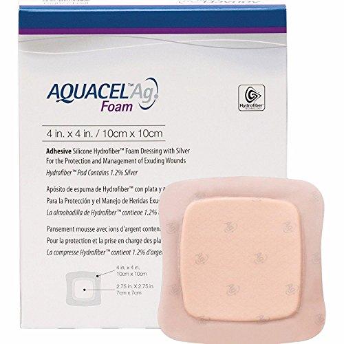 Aquacel AG Apósitos adhesivos de espuma 10 cm x 10 cm x10 420681