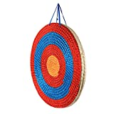 Huntingdoor Diana redonda tradicional de paja 50 x 50 cm, hecha a mano, para tiro con arco, para la práctica al aire libre, arco de arco largo, arco recurvo