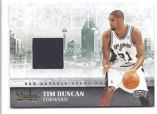 TIM DUNCAN 2009-10 Panini Studio Skylines Materials #27 GAME WORN JERSEY Card San Antonio Spurs Basketball