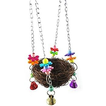 Ukallaite Hamac à suspendre pour cage à oiseaux - Pour perroquet, perruche, calopsitte - Taille : 12 cm x 27 cm