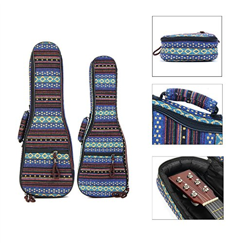 SHAND 21 23 inch ukulele Qin Hij Soft Padded Carry beschermhoes gitaar rugzak SHAND (Size : Inch 23 Inch)