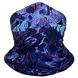 KastKing Sol Armis Neck Gaiter - UPF 50 Face Mask - UV Sun Protection Gaiter Sun Mask for Men & Women, Fishing, Hiking, Kayaking Mask, Prym1 Camo, J: Prym1 Purple Tang