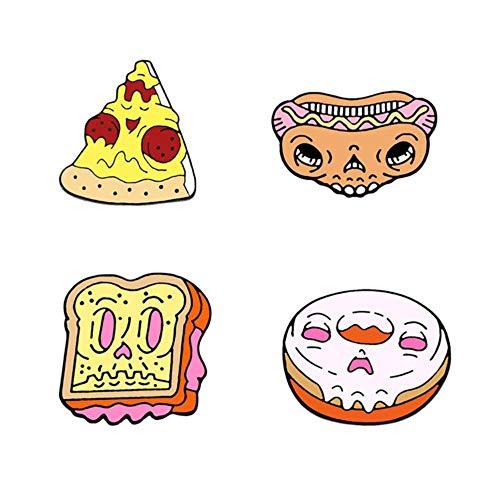 Set lustige Emaille Brosche Cartoon Katze rosa Spiel Konsole Auto Erde Pins süße Pillen Pflaster Brief Zeichen Revers Abzeichen Schmuck, Schädel Essen