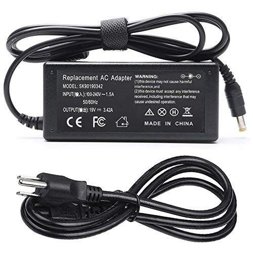 65W AC Adapter Laptop Charger for Acer Aspire 3 5 V5 V7 V3 R3 R7 S3 E1 M5 5534 5532 5742 5750 5733 5349 5250 PA-1650-86 19V 3.42A Power Supply Cord