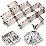 Organizer cassetti organizer trucchi divisori per cassetti, Organizer per il trucco per lo studio del bagno del bagno dell'ufficio domestico, confezione da 6 pezzi (Grigio)