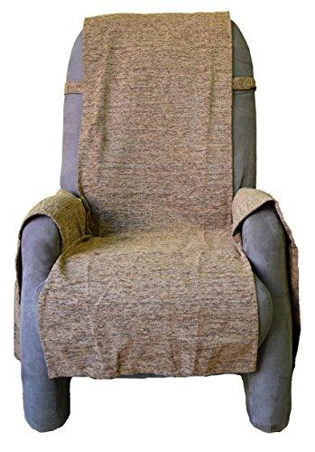 Comptoir du Linge Sesselüberwurf, 50x210cm, Gämse