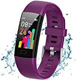 SaiYuan Fitness Tracker HR, IP67 Water Resistant Color Screen Activity Tracker Smart Watch with Heart Rate Monitor Step Counting Sleep Tracking Calorie Counter Pedometer Wrist Band for Women Men Kids