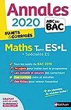 Annales ABC du BAC 2020 Maths Term ES-L - corrigé
