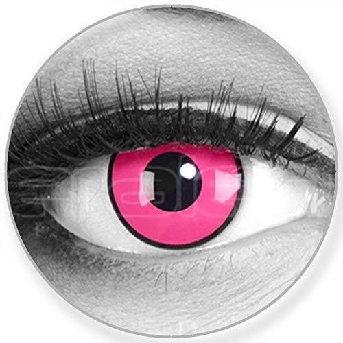 Lenti a contatto colorate annuali lenti a contatto Meralens 1 rosa Crazy Fun Rose Shock. Top quality to carnival carnival Halloween con lenti a contatto contenitore senza forza