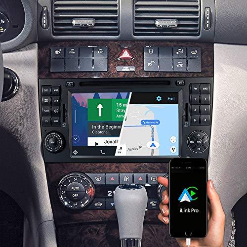 DYNAVIN Autoradio Navi für Mercedes C-Klasse W203 CLC-Klasse W203 CL203; 7 Zoll OEM Radio mit Android Auto, Bluetooth, USB, DAB+ Ready; N7-MBC Pro