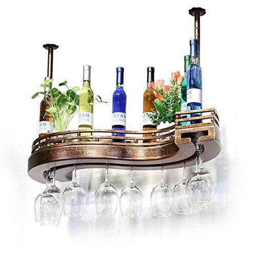 Botellero Estantería de Vino Wine Rack Soporte para Copas Estante del vino de madera sólida de la suspensión colgantes de cristal de vino rack de almacenamiento titular de la botella al revés for copa