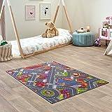 Carpet Studio Tapis Voiture Enfant 95x133cm, Tapis de Jeu pour Chambre Enfant pour Fille, Tapis Antidérapant, 30°C Lavable - Big City