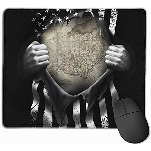 Gaming Mouse Pad Bundesstaat Ohio Karte auseinander ziehen Mousepad Anti-Rutsch-Mousepad Mat