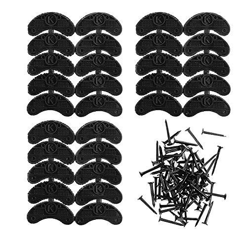 GOETOR Heel Plates 30 PCS Rubber Shoes Heel Taps Tips...