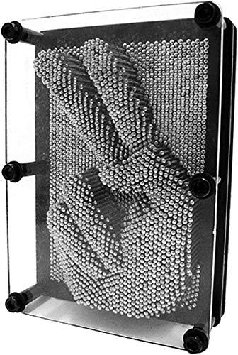 Adkwse 3D- Bild Captor Klon Pin Punkt Impression Intelligente Nagelspiel Spielzeug Dekoration (Silber)