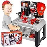 Kinderplay Banco Herramientas Juguetes Y Casco Tool& Brains, Taller Mecanico Juguete, Juego de...