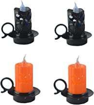 OSALADI 4PCS Halloween flameless Candles Halloween Battery LED Tea Light Candles Candle Light for Cosplay Party Halloween ...