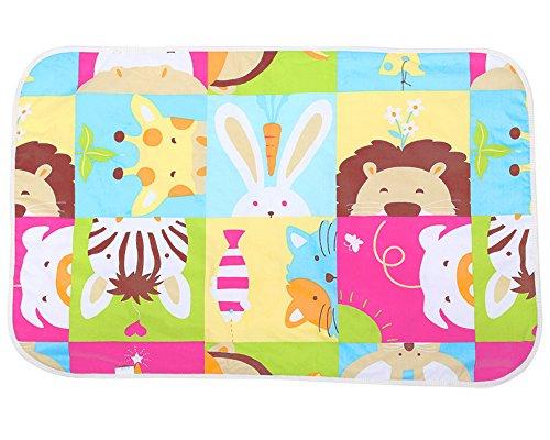 Baby Waterproof Diaper Changing pad Mattress playmat pad Cover 3 Layers Cloths 47 inch x 30 inches - Free 1 Organic Cotton Random Design Bandanna Drool Bibs KAV lifestyle 02 Giraffe Infant
