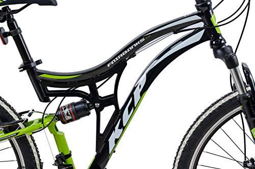 KCP Mountainbike Fully MTB Jugendrad 26″ Zoll Fairbanks mit 21G Shimano Vollfederung schwarz grün - 3