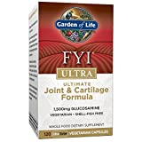 Garden of Life Glucosamine Supplement, FYI Ultra Ultimate Joint and Cartilage Support, 1,500 mg Glucosamine HCI, Vegetarian, Shell-Fish Free, 120 Capsules