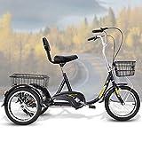 Triciclo De Edad Avanzada, Libre Tiendas De Bici, Neumáticos De Crucero Trikes con Amortiguación, Ergonómico Silla, Bicicleta 3 Ruedas De Las Bicicletas por La Tercera Edad, Mujeres, Hombres