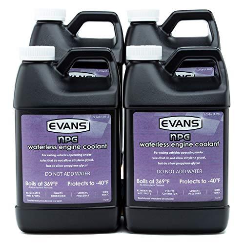 Evans EC10064 Waterless Specialty Coolant (NPG), 64 fl oz., 4 Pack