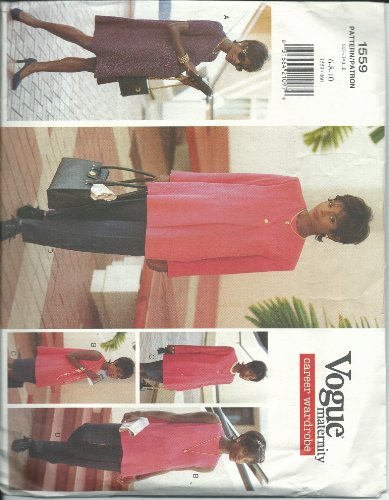 Vogue 1559 Sewing Pattern Misses Maternity Career Wardrobe Size 6-10
