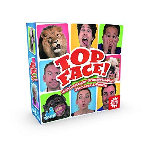 GAMEFACTORY 646170 Top Face, wahnwitziger Grimassenspaß, Partyspiel, Familienspiel für 3 bis 8 Spieler