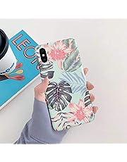 Herbests Compatible con iPhone XS MAX Funda de Silicona Suave Funda de Flores Elegante Carcasa Diseño Ultra Delgada Cubierta TPU Bumper Antishock Case Cover, Rosa