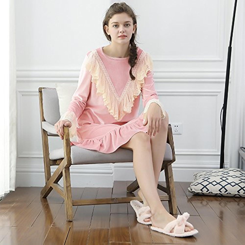 MHRITA Jinsirong new fall pajamas pajamas sexy clothes Home Furnishing Ms.,Pink,F