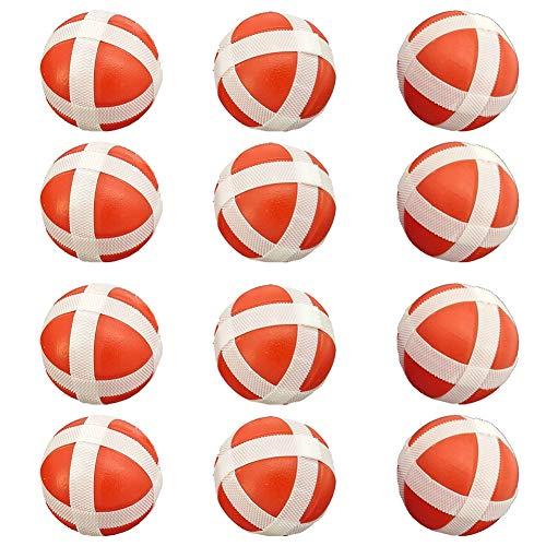 Homclo Diana de dardos de velcro para niños, pelotas de juguete, pelotas de repuesto, juego de velcro para niños pequeños, 12 unidades