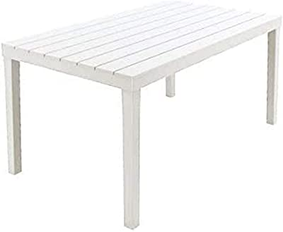 Table Sumatra01793, Couleur Blanc, 138x 80x 8cm