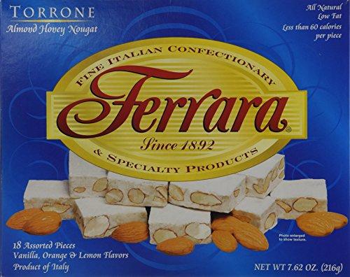Torrone Nougat Candy, 18 Assorted Pieces (Ferrara) NET WT 7.62 216g by Ferrara