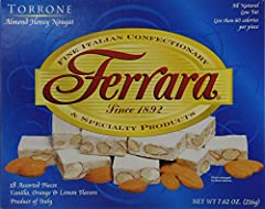 Ferrara throne, almond honey nougat candy is one of the fine Italian confectionary and specialty products since 1892