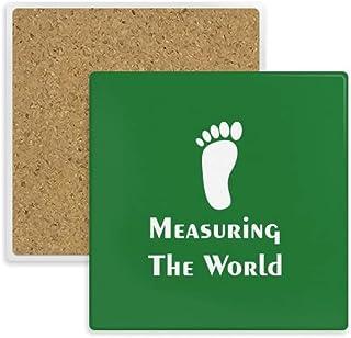 Measuring World Sports Footsteps Coaster Cup Mat Mug Subplate Holder Insulation Stone