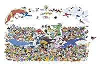 大人の木製パズル 500/1000 /ワンピースポケモン木製パズル集中組み立て玩具解凍教育知的親子ゲーム G504 (Color : A, Size : 1000P)