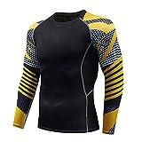 KERVINFENDRIYUN YY4 Herren Langarm Sport Cool Dry Shirts Compression Baselayer Oberteile -