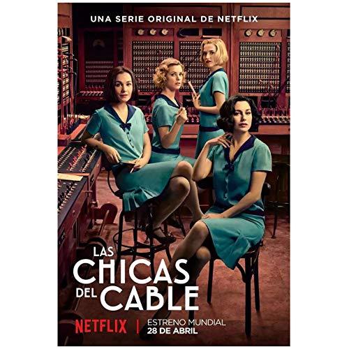 Cable Girls temporada 1 (2017) serie de televisión carteles e impresiones lienzo...
