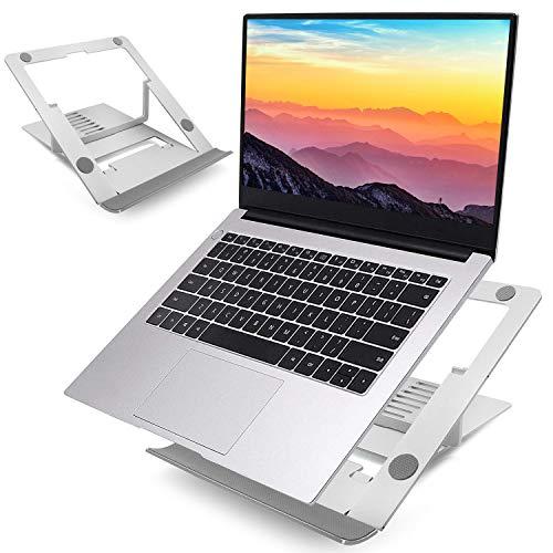 Laptopständer, BEYAWL Faltbarer Laptopständer, Verstellbarer tragbarer belüfteter Laptopständer, passend für alle 10-15,6 Zoll MacBook Pro/Air, Dell, HP, Samsung, Lenovo Tablet-Laptops Silber