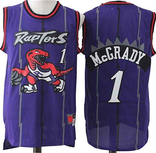 Jerseys de Baloncesto para Hombres, Toronto Raptors Tracy McGrady # 1 Swingman Edition Mesh Jersey, Retro