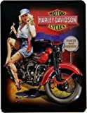 Harley-Davidson Fixer-Up Babe Embossed Tin Magnet 3-1/2' x 2-3/4' by Ande Rooney