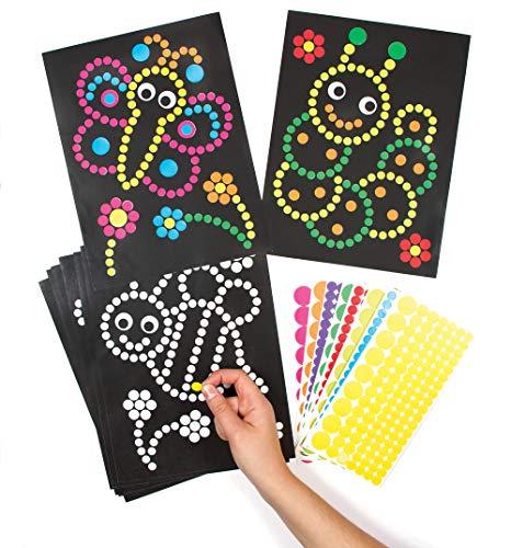 Baker Ross Insekten Aufkleber für Kinder zum Dekorieren und Ausstellen für Kunsthandwerksaktivitäten (8er-Pack) AG272, sortiert