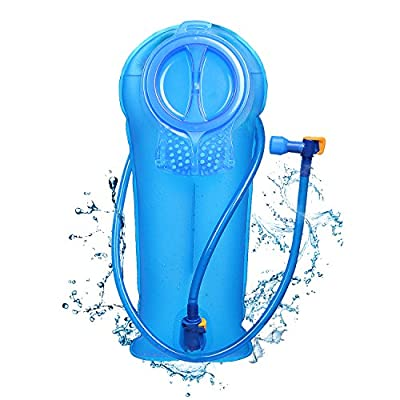 Unigear Hydration Water Bladder Reservoir BPA Free and Taste Free for Backpacking, Biking, Hiking and Camping (Blue, 2L)