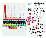 Linktor Chemistry Molecular Model Kit (440 Pieces), Student or Teacher Set for Organic and Inorganic Chemistry Learning, Motivate Enthusiasm for Learning and Raising Space Imagination, A Fullerene Set