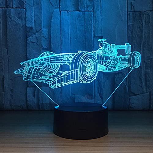 Coche De F1 Presentazione Notturna 3D Sferica Astratta Led Luce Notturna Lampada Atmosfera Lampada Da Tavolo Piccola Regalo Creativo Illuminazione Acrilica 16 Colores