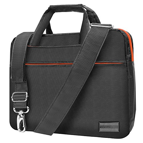 Metal Grey Orange Briefcase Messenger Bag for DBPower 9.5 inch 10.5 inch Portable DVD Player